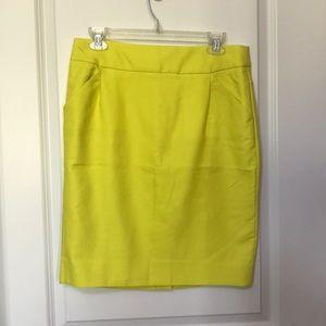 JCREW Factory Pencil Skirt - yellow SZ 8